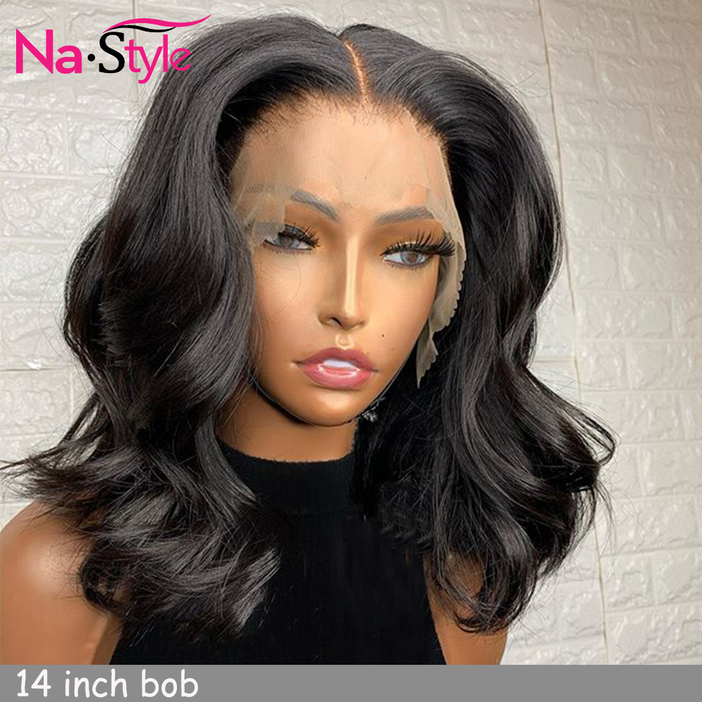 Short Deep Wave Lace Front Wig For Black Women 13x6 Pixie Cut Wig Human Hair Short Bob Pre Plucked Bleached Knots Wigs 150% Remy