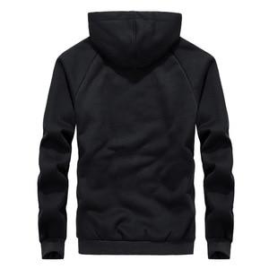 Image 4 - 2019 winter thick lambskin velvet hooded Sweatshirts casual men warm jackets coats hoodies streetwear one piece plus size L 8XL