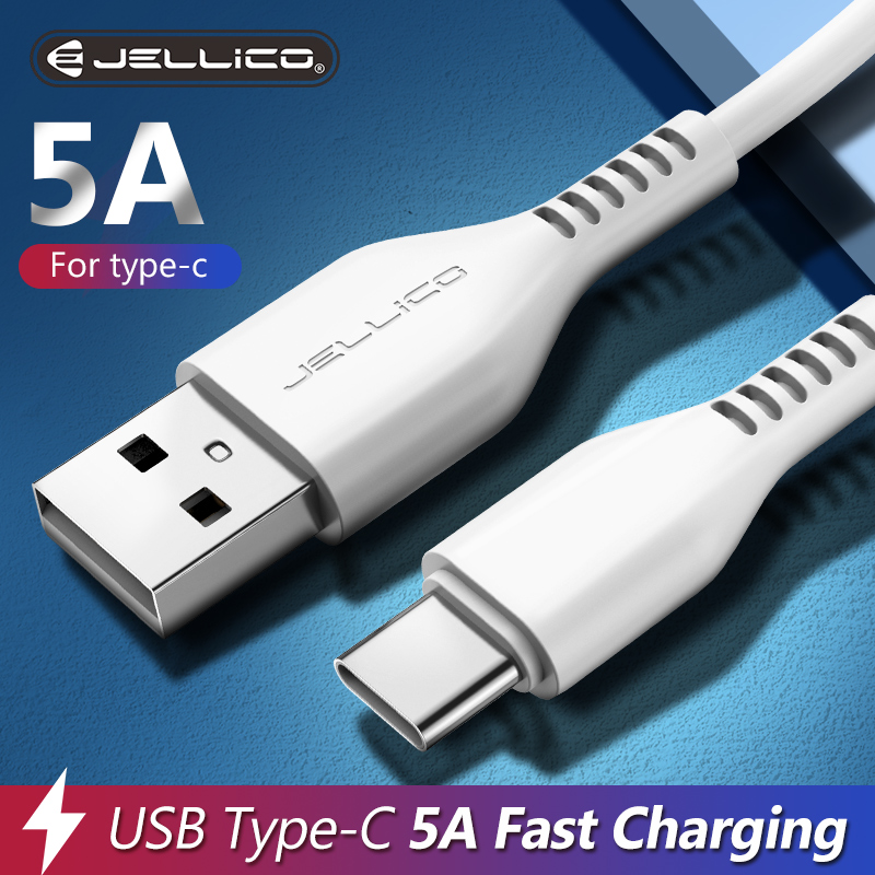 Кабель Jellico 5 А USB Type-C для Android-телефонов, зарядное устройство типа C для Huawei Mate 30 40 P40 P30 P40 Pro Lite, провод для быстрой зарядки Type-C, шнур