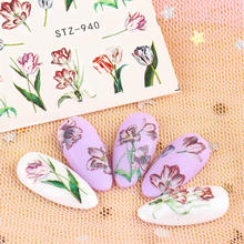 24pcs Water Nail Decal and Sticker  Flower Series Simple DIY Slider for Manicure Nail Art Watermark Manicure Decor Stickers multicolor mixed nail french sticker 3d nail sticker diy tips beauty french manicure stickers for nails decal 30sheet