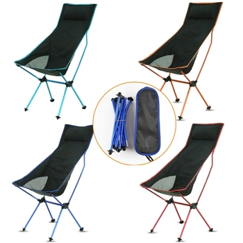 Outdoor Portable Collapsible Moon Chair Sturdy Convenient Ultralight Beach Seats For Hiking Fishing Camping Backrest Chairs lounge beach chair fishing backrest lightweight folding chair outdoor portable camping deck chairs for hiking