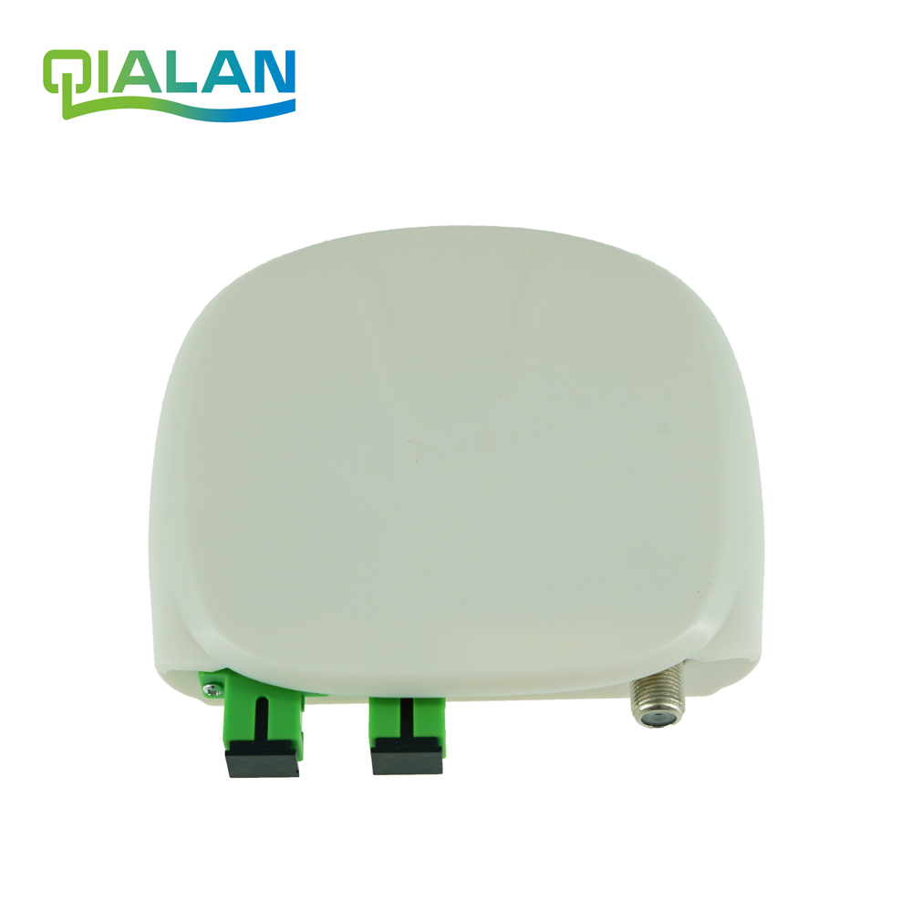 Fiber Optical FTTH Optical Receiver SC/APC-SC/APC With WDM And AGC Mini Node Indoor Optical Receiver And Optical Transeiver