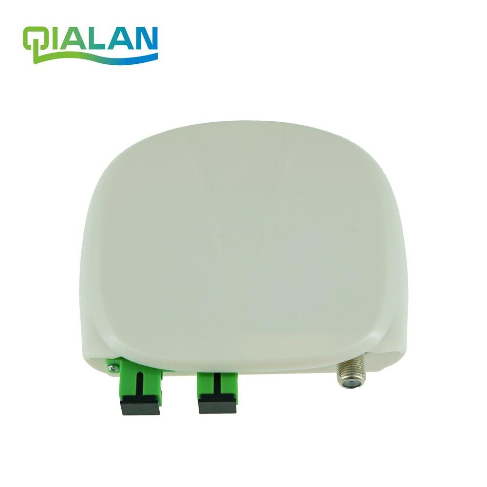 Récepteur optique optique de Fiber optique FTTH SC/APC-SC/APC avec le récepteur optique d'intérieur de Mini noeud de WDM et d'agc et le récepteur optique