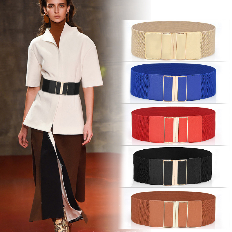 New Design Cummerbund Vintage Wide Elastic Women Belts Jeans Cummerbunds Party Costume Belt Cinturon Ancho Mujer Corset Femme