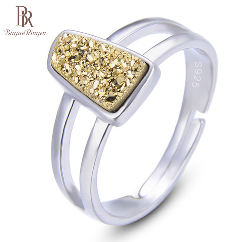 Bague Ringen Female Accessories Korean Style Rings New S925 Pure Silver Crystal Ring For Women Popular Concise Jewelry Gift