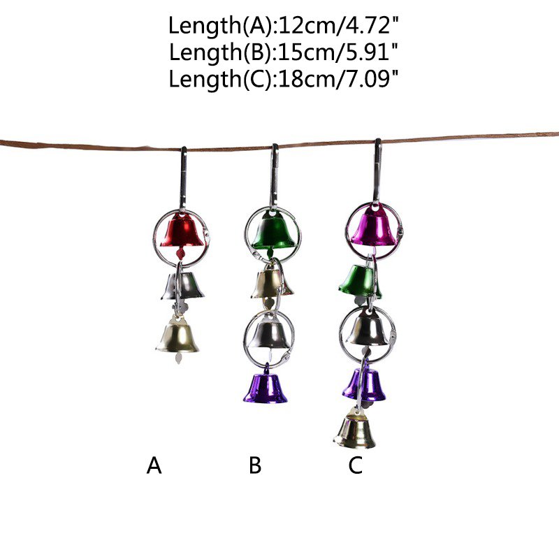 Parrot Bird Metal Ring Bell Toys Colorful Swing Rings Hanging Toys For Parrot Squirrel Parakeet Birds Pet Bird Cage Accessories