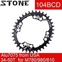 Stein Kettenblatt Oval 104BCD für Shimano M430 M780 M610 M670 m980 36 38T 40T 44 46T 48 50T Bike Kettenblatt 104 bcd 12 geschwindigkeit 12 s