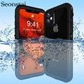 Caso à prova dwaterproof água para iphone 11 pro vida máxima choque de água sujeira neve prova proteção capa para iphonex xs max xr capa com touch id