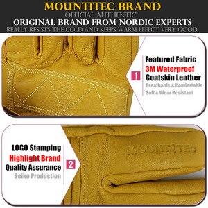 Image 2 - Mountitec 探検 4 電気加熱された手袋リチウム電池自己発熱タッチスクリーンゴートスキンスキー手袋防水乗馬 guantes