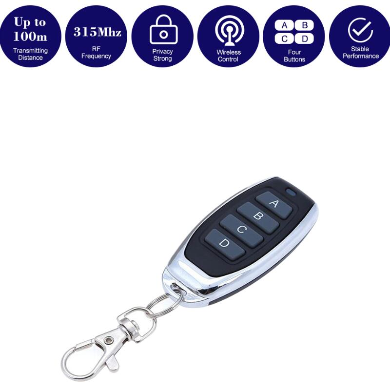 Wholesale 315MHz 4 Buttons Auto Remote Control Cloning Gate For Garage Door Remote Control Portable Duplicator Key Fashion