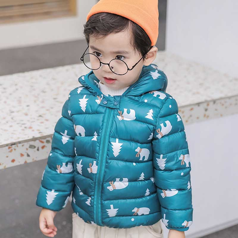 Kids jacket Autumn Winter Warm Jackets For Girls Coats Baby Boys Jackets ear hoodie Children Clothes Outerwear Coat Costumes in Down Parkas from Mother Kids