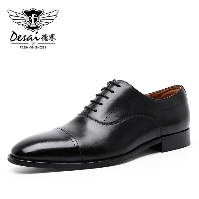 Brand New Genuine Leather Shoes Men Shoes color: Black|Brown