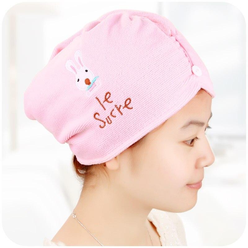 Новое милое стильное банное полотенце из микрофибры для быстрой сушки волос, женское мягкое банное полотенце, шапочка для душа для женщин и ...