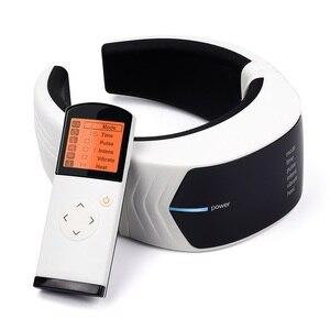 Image 1 - Elektrik darbe boyun masaj servikal Vertebra dürtü masajı fizyoterapi akupunktur manyetik terapi ağrı kesici aracı