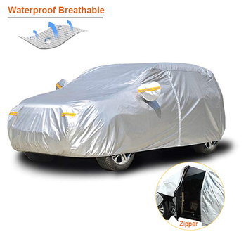 Kayme waterproof car covers outdoor sun protection cover for car reflector dust rain snow protective suv sedan hatchback full s 1