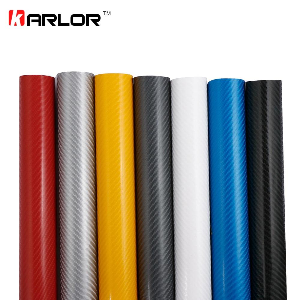 Película de vinilo de fibra de carbono 4D para coche y motocicleta, pegatinas impermeables de 15x10cm, 3M, accesorios de estilismo para motocicleta, envoltura con burbujas sin aire