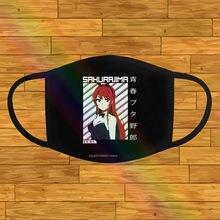 Mai sakurajima máscara preta lenço de bandana seishun buta yarou wa coelho menina anime manga a744