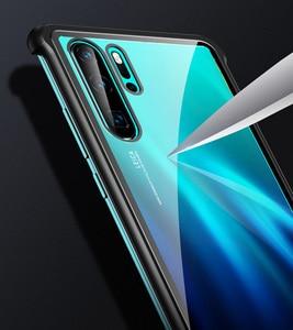 Image 5 - 強化ガラスハードケース Huawei 社 P30 プロケース金属フレーム耐衝撃カバー Huawei 社メイト 20 プロ名誉 20 プロノヴァプロ