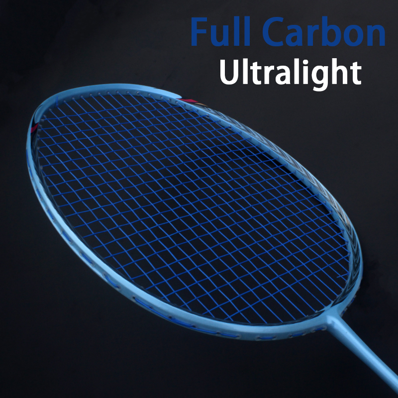 Super Light 5U Professional Carbon Badminton Rackets Strung Racquet 22-28LBS Offensive Type Racket Bag String Padel Force Speed