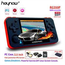 HEYNOW – Console de jeux vidéo portable RG350P/Linux, écran IPS de 3.5 pouces, PS1, émulateur, compatible HDMI