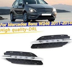 COOYIDOM 2 uds para Mercedes Benz W246 B Clase B180 B200 2011-2014 LED DRL luz de circulación diurna con función de señalización de giro amarillo