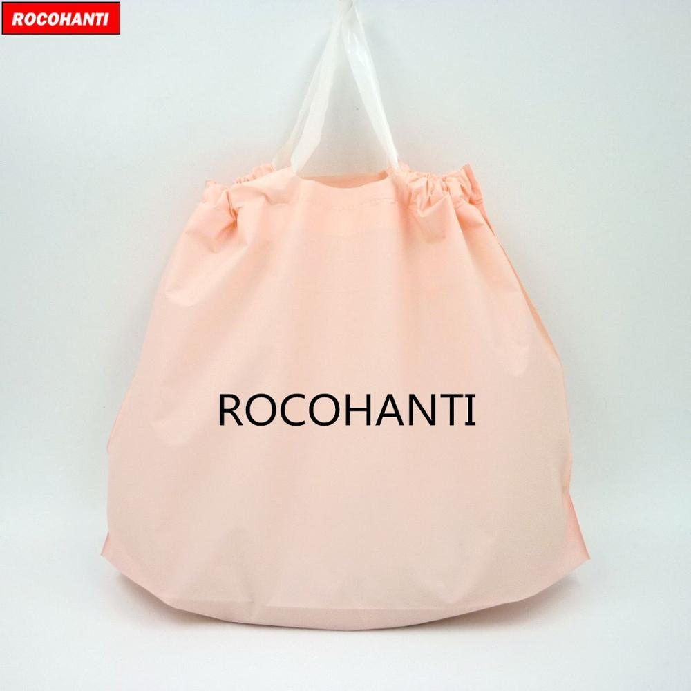 Reciclar a Mercearia Bolsas de Compras Bolsa de Cordão com Logotipo Personalizado Plástica Biodegradável Reutilizável Leva Bebê Cor-de-rosa 100x