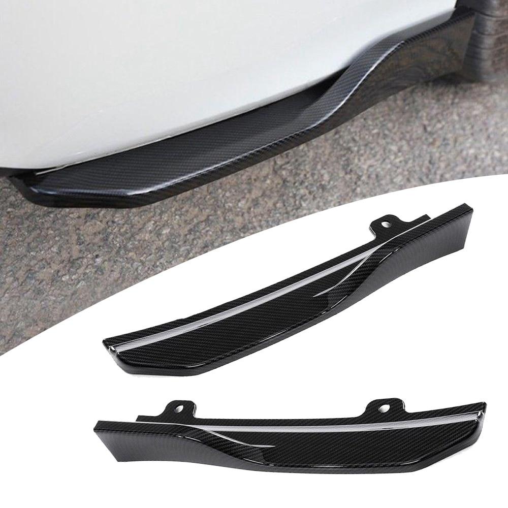 Car Rear Bumper Skirt Spoiler Lip Wing Carbon Fiber Black Frame For Honda Accord 2018 Exterior Parts Decorations