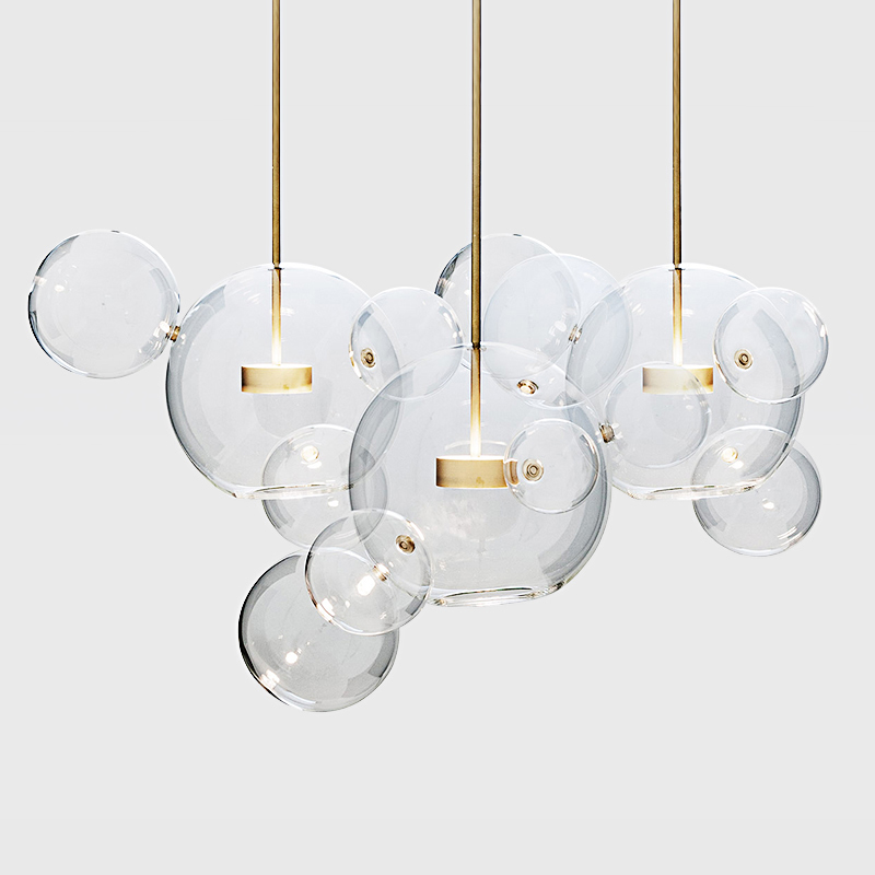 Artpad Living room Chandelier Warm White LightingCreative Clear Glass Bubble Lamp Children room Indoor Decor Lighting Fixture