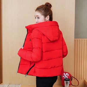 Image 4 - Winter Parka Jacket Women Short Coat Down Cotton Female Warm Thick Clothing Autumn Outerwear Quilted Fall Sport Hooded Zipper