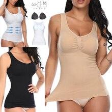 Women Shaper Slim Up Lift Plus Size Bra Cami Tank Top Body Shaper Removable Shaper Underwear Slimming Vest Corset Shapewear
