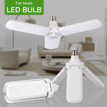 E27 LED Bulb Foldable Fan Blade Bulb 36W 45W LED Lamp Super Bright White for Indoor Home Ceiling Light