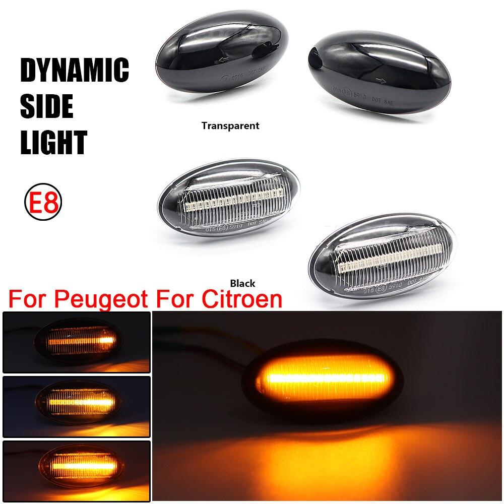 2X светодиодный динамический Поворотная сигнальная лампа мигалка для Peugeot 307 206 407 107 607 1007 Citroen C1 C2 C3 C5 C6 последовательного Боковой габаритный фонарь, светильник|Сигнальная лампа|   | АлиЭкспресс
