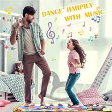 Piano Mats Music Carpets Children Touch Play Mat with Instrument Sound Musical Rug Learning Toys for Kids 110x36cm