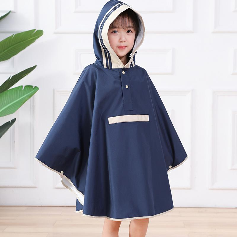 1pcs Unisex Nylon Waterproof Kids Raincoat Rain Coat Rainwear Cover For Children Capa De Chuva Child Poncho