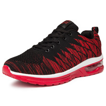 Men & Women Flyknit Breathable Sneakers Cool Mesh Cushioned Running Sports Shoes Unisex Casual Leisure Walking