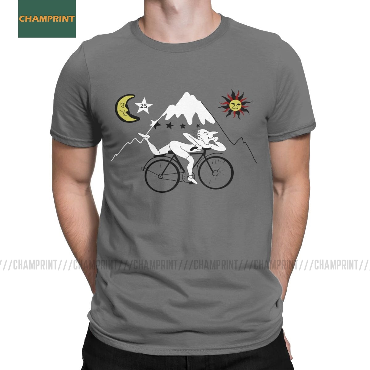 Men's Bicycle Day Albert Hofmann T Shirt Lsd Acid Blotter Party Cotton Clothing Vintage Short Sleeve Tees Birthday Gift T-Shirt