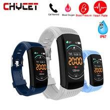 2019 à prova dwaterproof água banda inteligente pressão arterial e freqüência cardíaca rastreador multifunções moda esportes pulseira de fitness para android ios