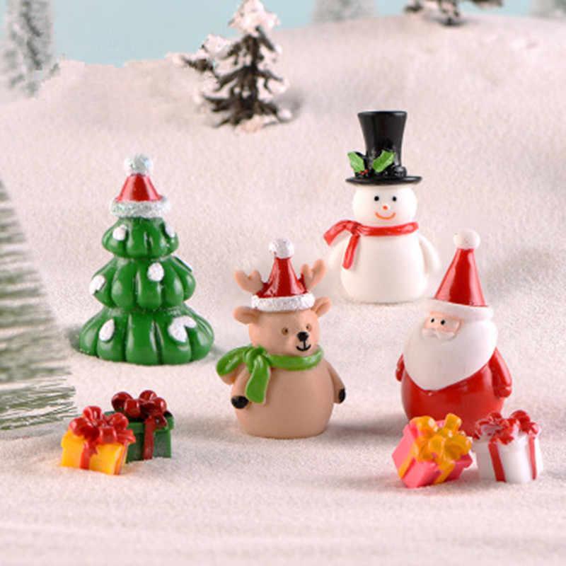 2 ピース/ロットミニクリスマス装飾妖精サンタサンタクロースクリスマスツリーミニチュア置物ホームデコレーション