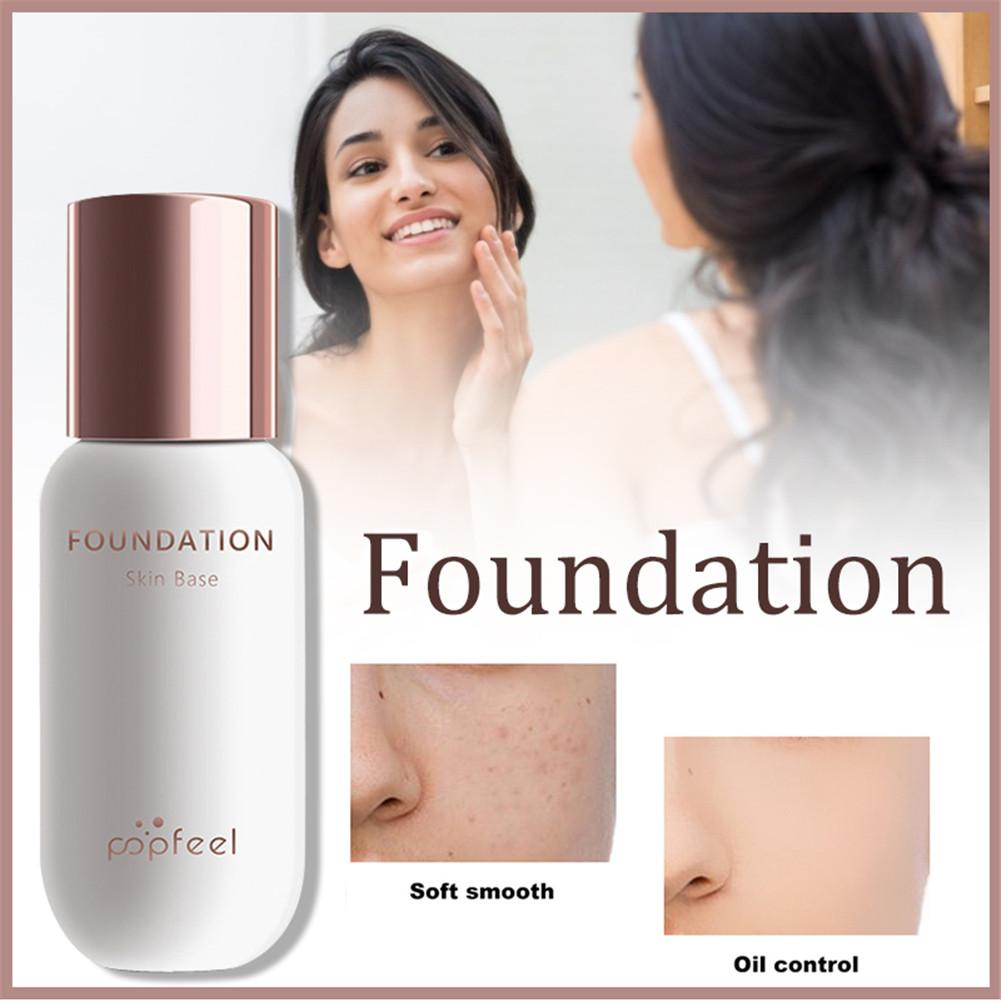Foundation 30ml 24 Hours Long-lasting Moisturizing Makeup Color Changing Liquid Foundation Matte Waterproof Concealer Cream Base image