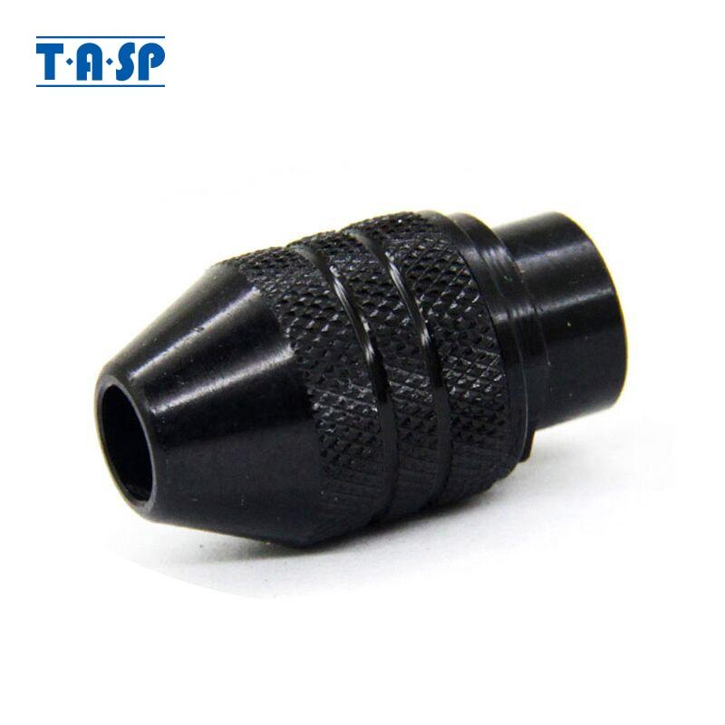 TASP Universal 3 Jaw Mini Chuck sin llave 0.5-3.2mm Collet Mini Taladro Accesorios para herramienta rotativa
