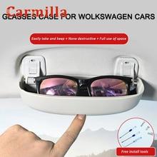 Carmilla Upgrade Car Glasses Holder Case for Volkswagen VW Golf 8 MK8 Golf8 2019 2020 2021 Accessories Sunglasses Storage Box