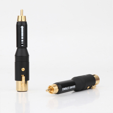 موصل محول الصوت XLR ذكر/أنثى إلى RCA مطلي بالذهب عالي الأداء لمضخم الصوت
