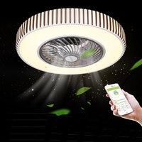 Bluetooth ceiling fan with lights remote control ceiling Fans lamp for dining room bedroom 110v/220v Multifunction LED lighting