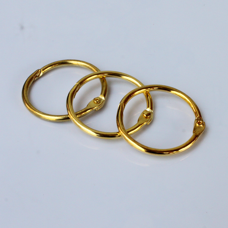 1pcs Fashion Gold Binding Ring 32MM Universal Convenient Secure Binding Document Finishing Supplies Office School Supplies