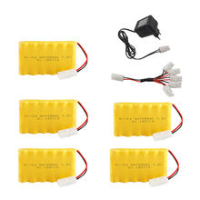 7.2v 700mah Ni-CD Battery + 7.2v Charger For Rc toy Car Boat parts NICD 72v Rechargeable Battery Pack for rc truck Train Gun(China)