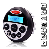 Waterproof Marine Stereo Bluetooth Radio Motorcycle Audio Boat Cart MP3 Player Auto Sound System FM AM Receiver For SPA ATV UTV