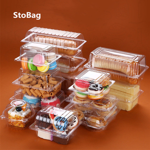 StoBag 50pcs Fruit Bread Box Transparent Fruit And Vegetable Box Strawberry Cherry Fruit Packing Box Pet Plastic Box For Party