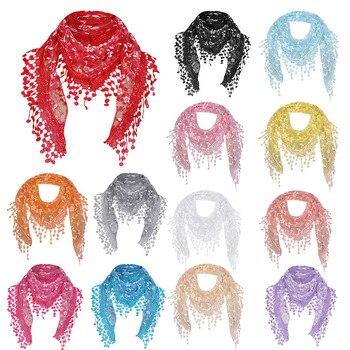 NEW Fashion Scarf Droppship Women Ladies Sexy Casual Lace Sheer Floral Shawl Wrap Tassel 15 Colors Freeship шумоглушитель