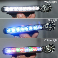 Wiring-Free Solar Car Wind Energy Daytime Running Light LED Lights Decorative Blowing