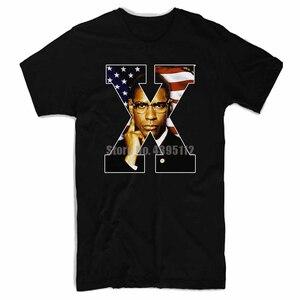 Malcolm X Áp Phích Phim Nam Funny Áo Thun Nữ Dạo Phố Thời Trang T Áo Sơ Mi Homme Humour Áo Thun Đầu Lâu Áo Thun Nam Cao Cấp